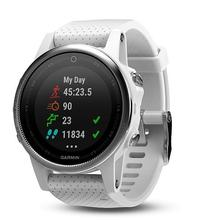 Garmin fenix5S Silver Optic, White band