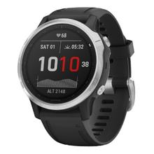 Garmin Fenix 6S Silver black/black band