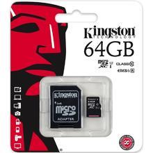 Kingston MICRO SDXC 64GB Class 10 UHS-I + Adapter